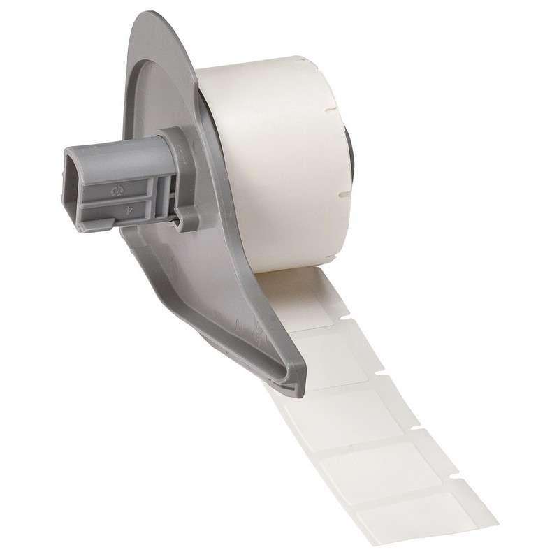 "BMP™71 Series Repositionable Vinyl Cloth Labels, Semi-Gloss White, 1/2"" x 3/4"", 500 per Roll"