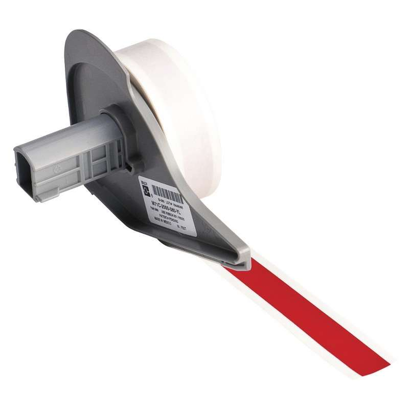 """BMP®71 Series Vinyl Film Indoor/Outdoor Tape with Permanent Adhesive, Red, 1/2"""" x 50', 1 Each"""