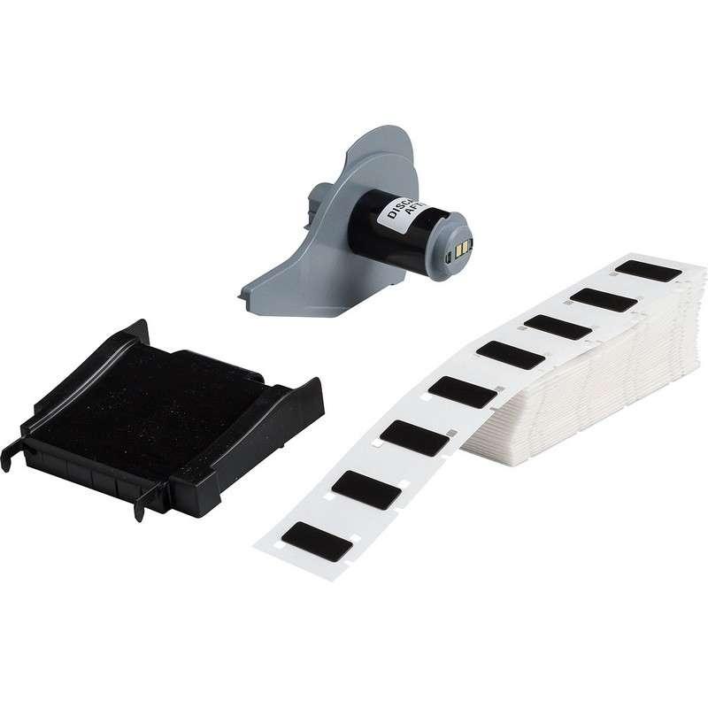 "BMP®71 Series Thermal Transfer Printable Raised Panel Labels, Gloss Black, 1.060"" x 0.490"", 100 per Box"
