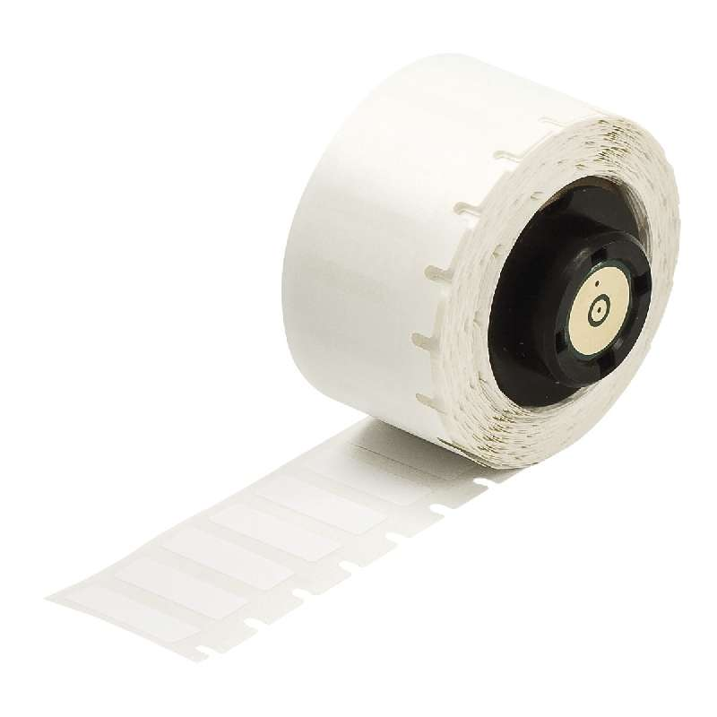 """TLS 2200®/TLS PC Link™ Static Dissipative Polyester Labels, Gloss White, 3/4"""" x 1/4"""", 750 per Roll"""