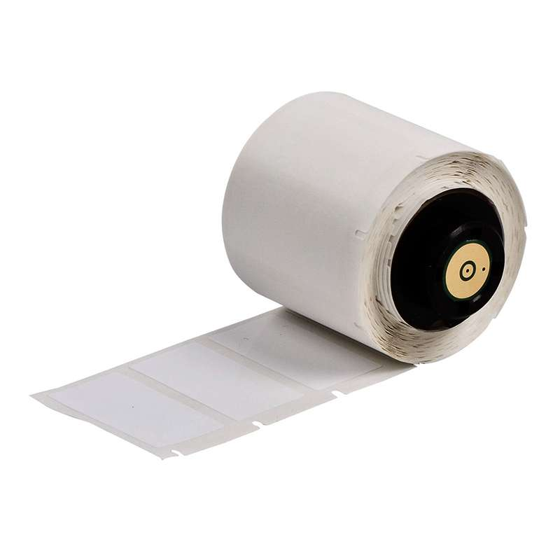 "TLS 2200™/TLS PC Link® Nylon Cloth Labels, 1"" x 1-1/2"", Matte White, 250 per Roll"