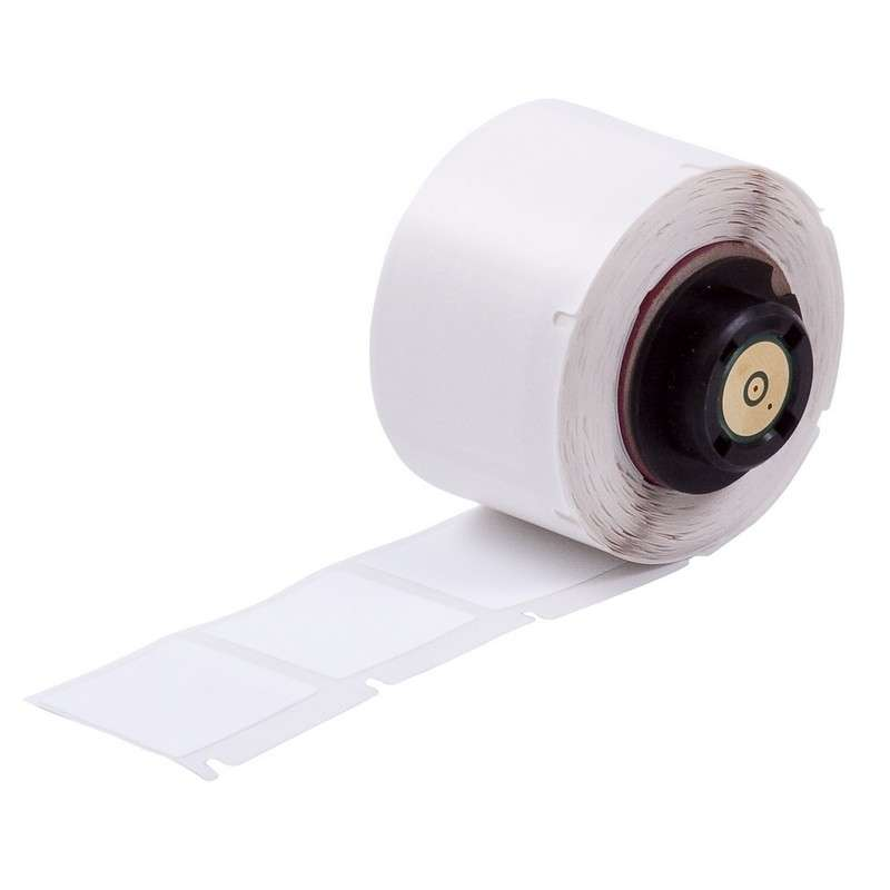 ToughBond® Polyester Thermal Transfer Label, White, B-489, 1 x 1 in, 250 Labels per Roll