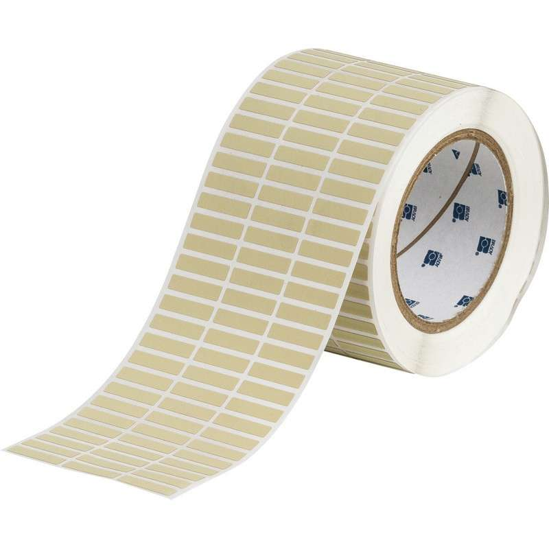 """Thermal Transfer label, High Temperature Polyimide, 1"""" x .25"""", 10,000 Labels/Roll, Amber"""