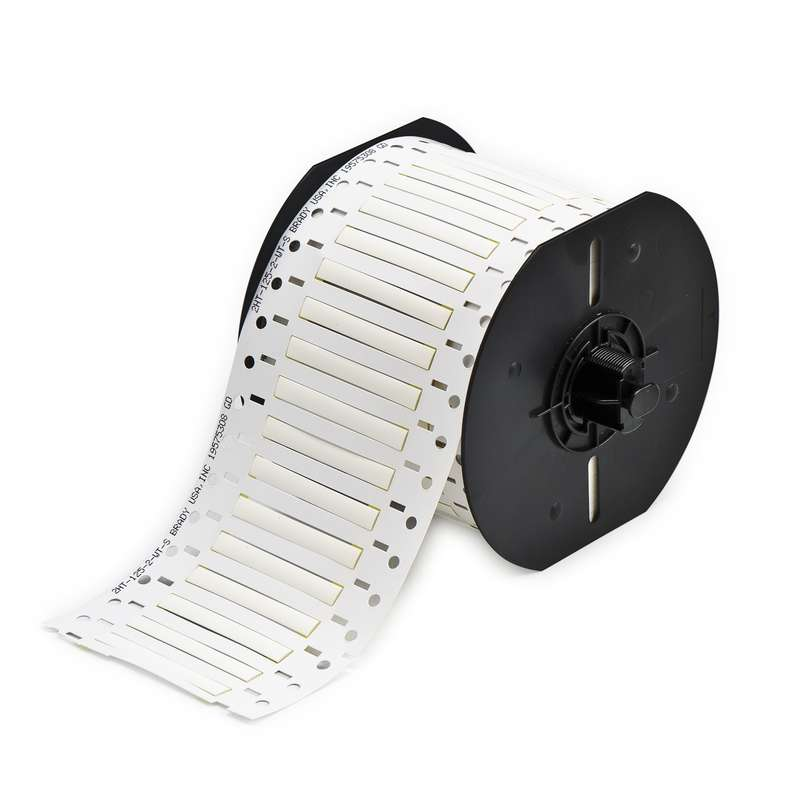 B33 Series PermaSleeve PVDF Wire Marking Sleeves, White, B-345, 0.125 x 2 in, 16-20 AWG