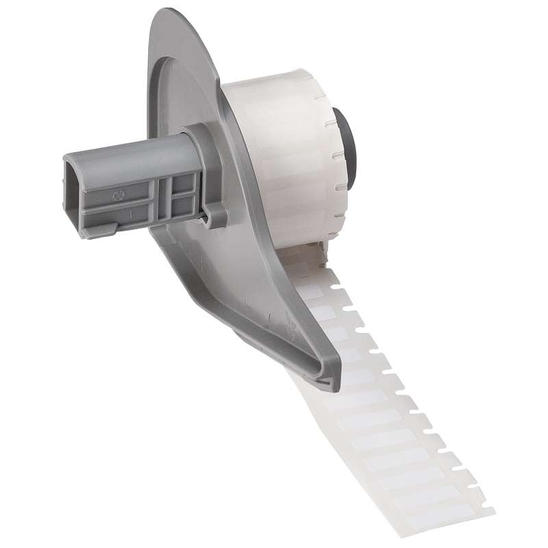 """BMP®71 Series Permanent Polyester Thermal Transfer Printer Labels, Gloss White, 0.650"""" x 0.200"""", 750"""