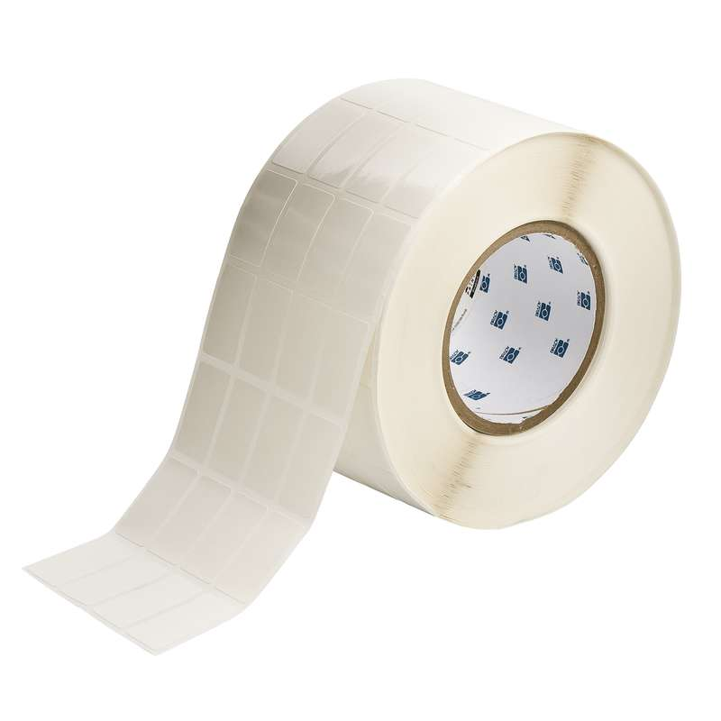 """3"""" Core Series CleanLift Vinyl Thermal Transfer Label, B-498, White, 1.437 x 0.8 in, 5000 Labels per Roll"""