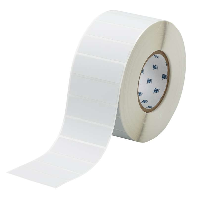 """3"""" Core Series Metallized Polyester Themal Tranfer Label, Light Gray, B-428, 1 x 3 in, 3000 Labels per Roll"""
