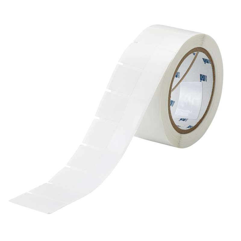 """3"""" Core Series Polyester Self-Laminating Labels, White, B-461, 1.75 x 1 in, 1000 Labels per Roll"""