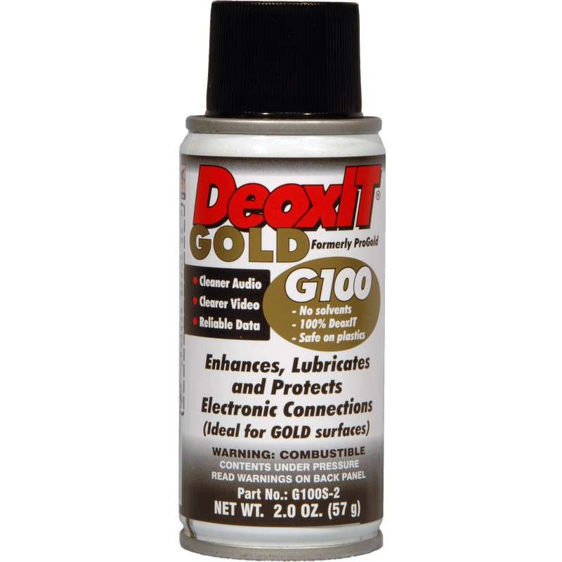 DeoxIT® Gold Superior Contact Cleaner, Enhancer, and Protector Aerosol, 2 oz.