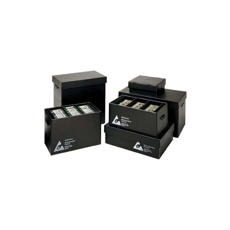 """Conductive Corrugated In-Plant Handler 21-1/2 x 18-1/2 x 4-1/4"""" with 150 Cells 1-3/4 x 1 x 4"""""""