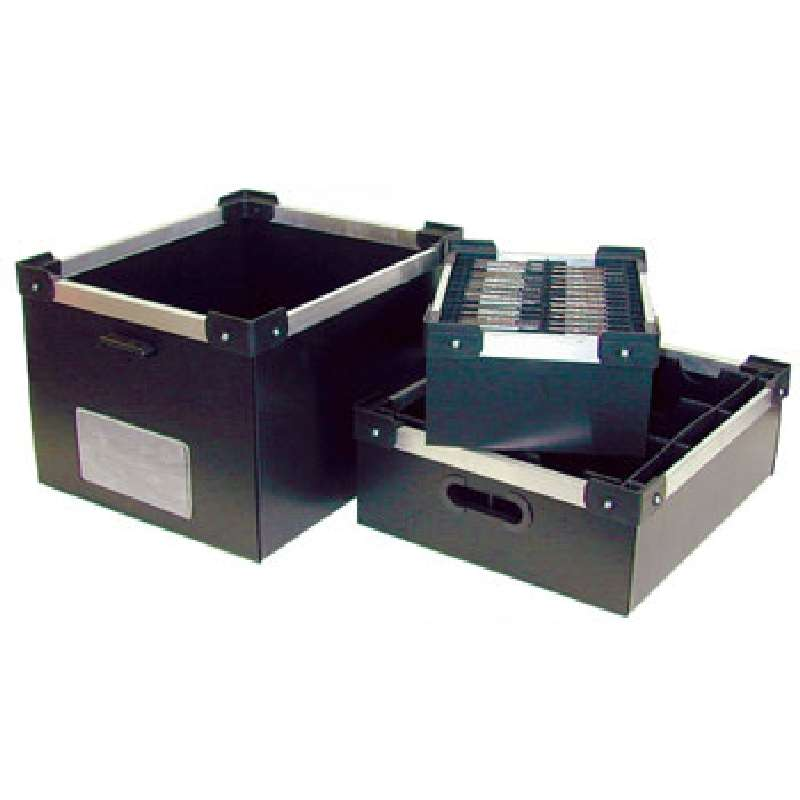 """Durastat Conductive Stackable Divider Tote Box, 23-3/4 x 12-1/4 x 10-3/4"""" ID (Dividers not Included)"""