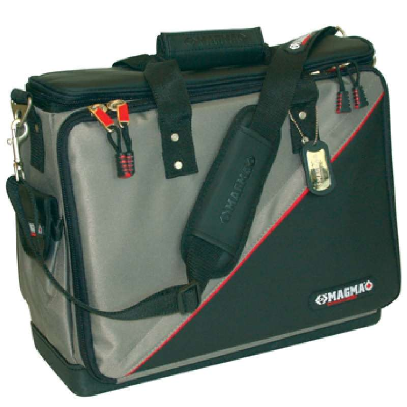 """Professional Technician's Tool Case with 50 Internal Pockets and Padded Compartments, 17 x 12-1/2 x 7-1/2"""""""