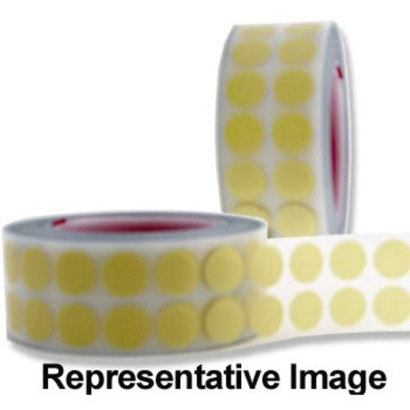 """Conformal Coating Masking Discs, 3"""" Core, 2.5mil Thick, 1/2"""" dia., 2000/Roll"""