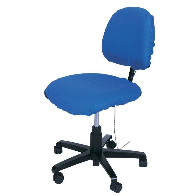 ESD-Safe Statshield® Dissipative Chair Seat and Backrest Cover, Royal Blue