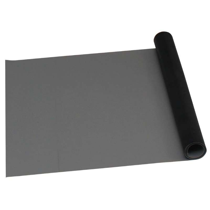 """2-Layer Diss/Cond Rubber Matting Roll without a Ground Cord or Snaps, Grey/Black, 30"""" x 50' x .060"""""""