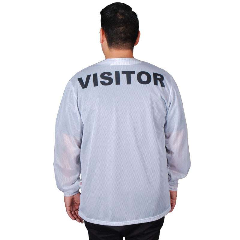"""Trustat™ """"VISITOR"""" Jacket with Snaps, No Collar and One Pocket, White, 2X-Large"""