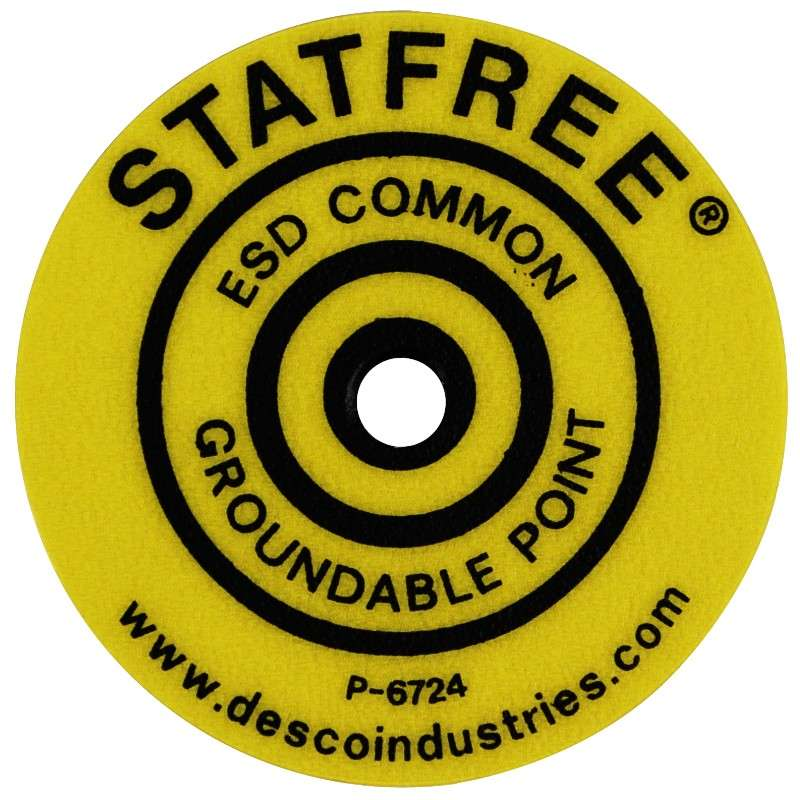Yellow Common Ground Point Identification Label, 10 per Pack