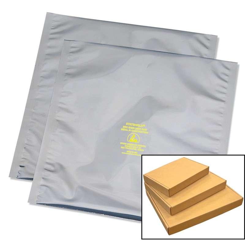 Series Metal-In Static Shield Bag, Material Aluminized Polyester Polyethylene, Gray