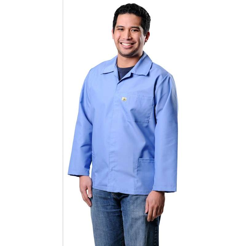 SMOCK, ESD HEAVY DUTY COTTON POLY BLUE XLARGE