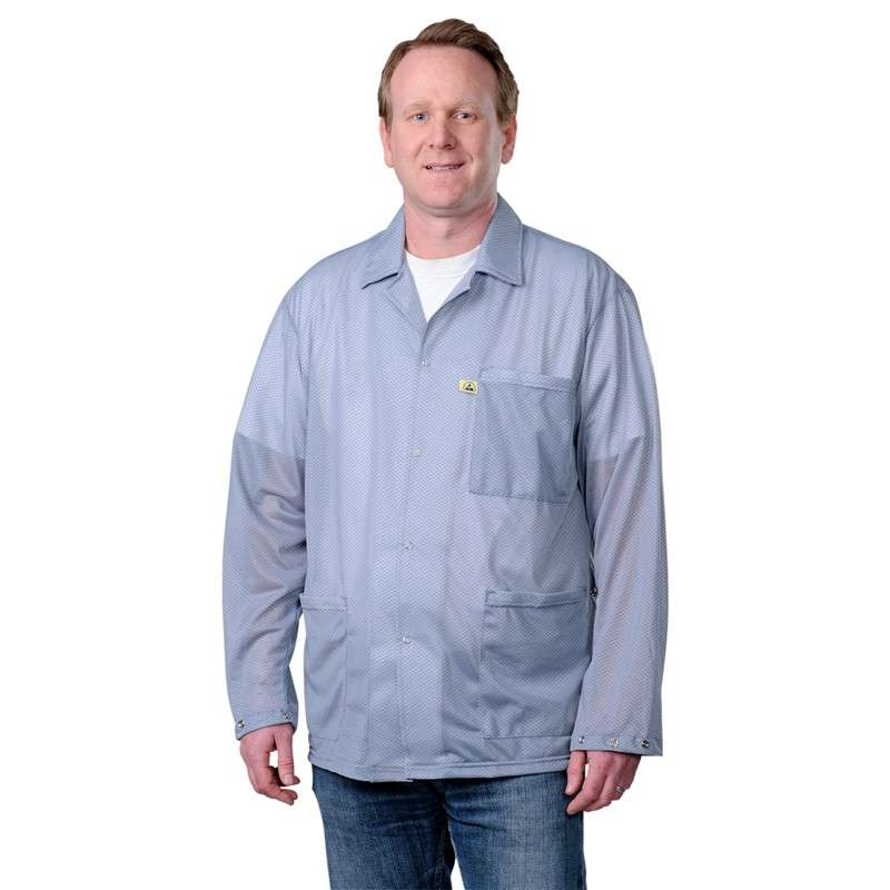 """Statshield™ ESD-Safe Jacket with Snaps, Grey, 6X-Large, 42"""" Long"""