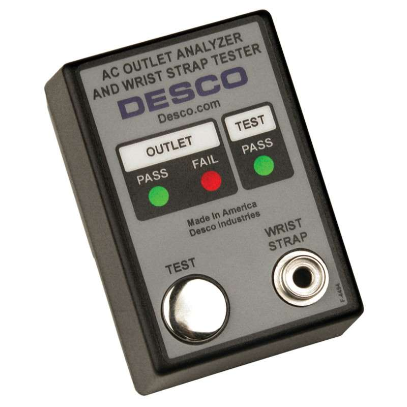 AC Outlet and Wrist Strap Tester, NIST Certified, 120VAC