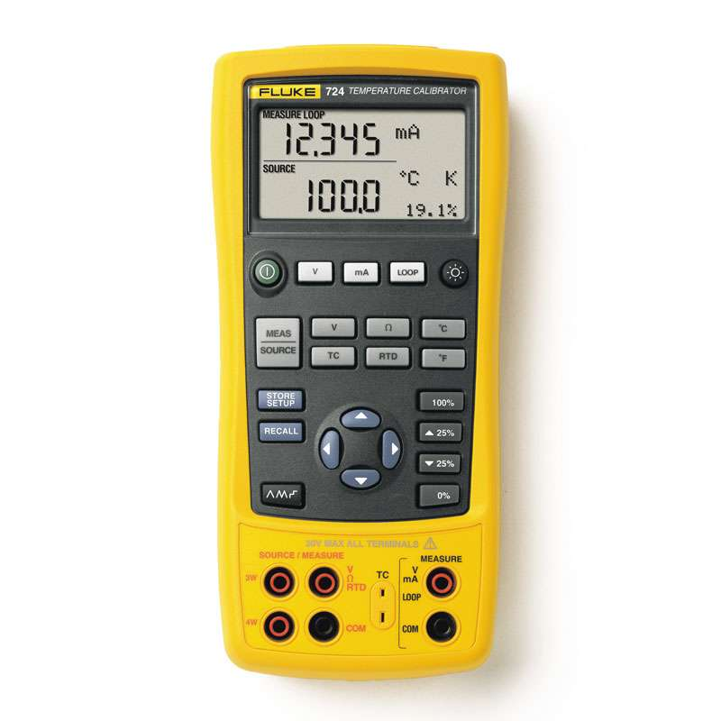 Temperature Calibrator can Source 10 Thermocouple Types and 7 RTD Types, Plus Volts and Ohms