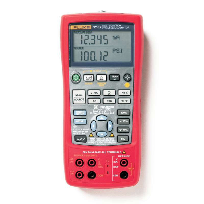 Intrinsically Safe Multifunction Process Calibrator, Temperature, Pressure, Resistance and Frequency