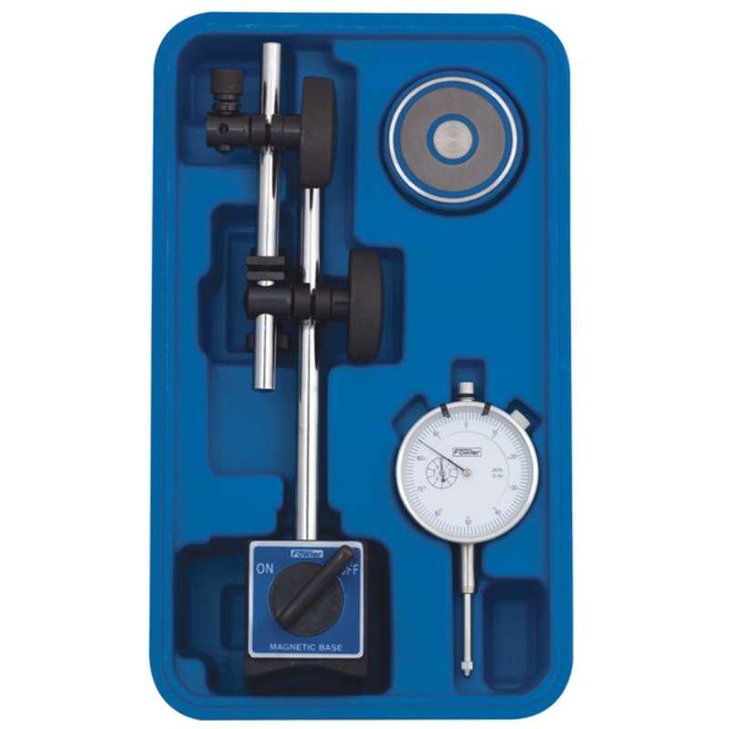 Fine Adjust Mag Base with AGD White Electronic Indicator Set