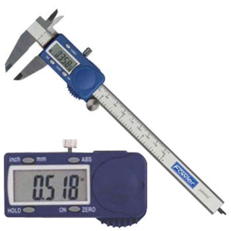 """Xtra-Value Cal® Electronic Caliper with 4-Way Measuring, Super Large Display and 0-6"""" Range"""