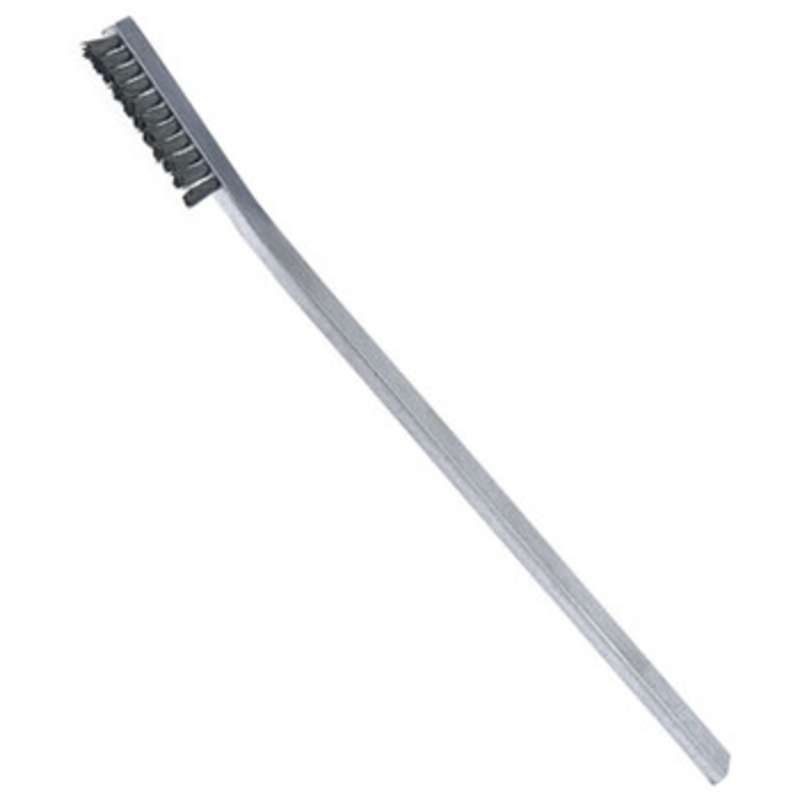 """ESD-Safe Brush with Nylon Bristles and an Aluminum Handle, 6-1/2"""" Long"""