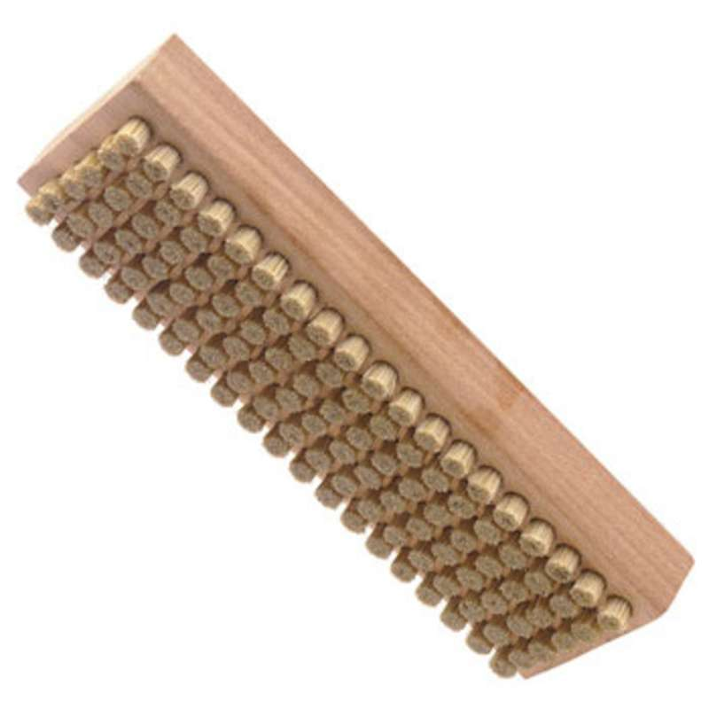 """ESD-Safe Brush with 1/4"""" Long Hog Hair Bristles and a Plywood Handle, 2-1/4"""" x 7-1/8"""" Long"""