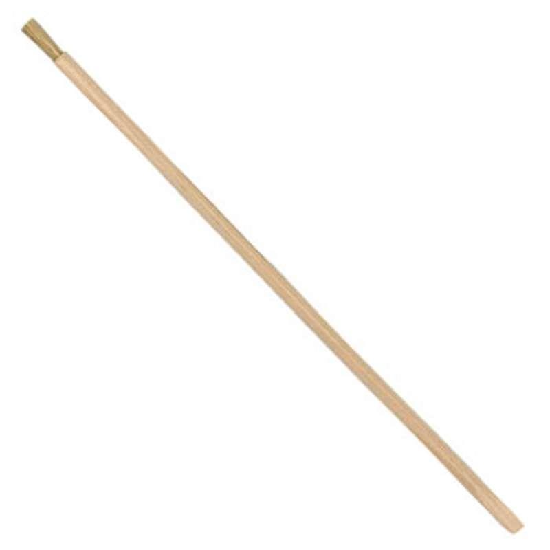 "ESD-Safe Orange Stick Brush with 1/2"" Hog Hair Bristles, 7"" Wood Handle"