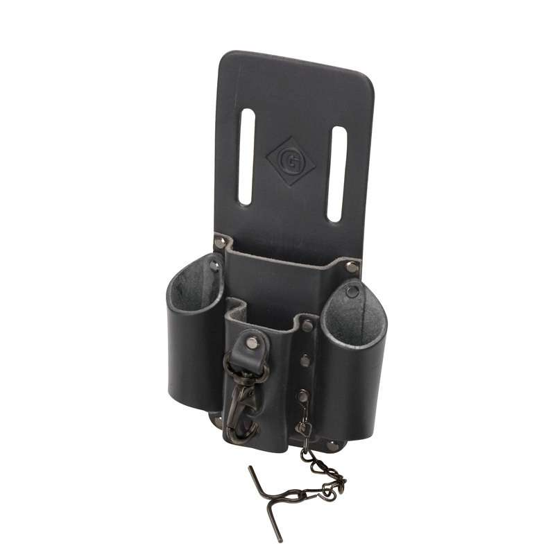 """Leather Heavy Duty Tool Pouch with 4 Pockets, 5 x 2-3/4 x 9"""""""