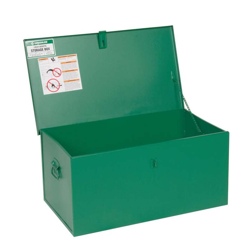 Metal Storage Chest, 31 x 18 x 15