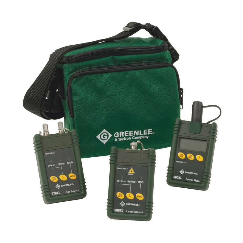 Multi-mode and Single-mode Fiber Optic Test Kit with ST Interface
