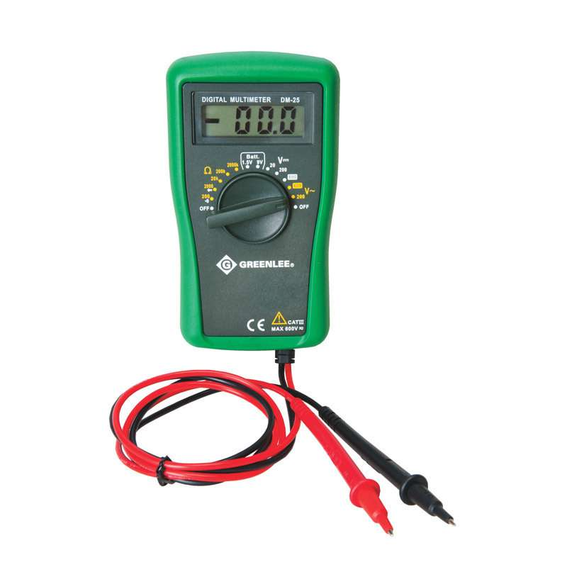 Manual Ranging 600 Volt Multimeter to Measure Voltage and Check Batteries