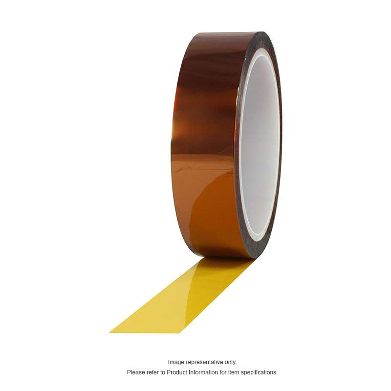 Hisco Low-Static Polyimide Tape, Amber, 1.5 in x 36 yds, 24 rolls per case