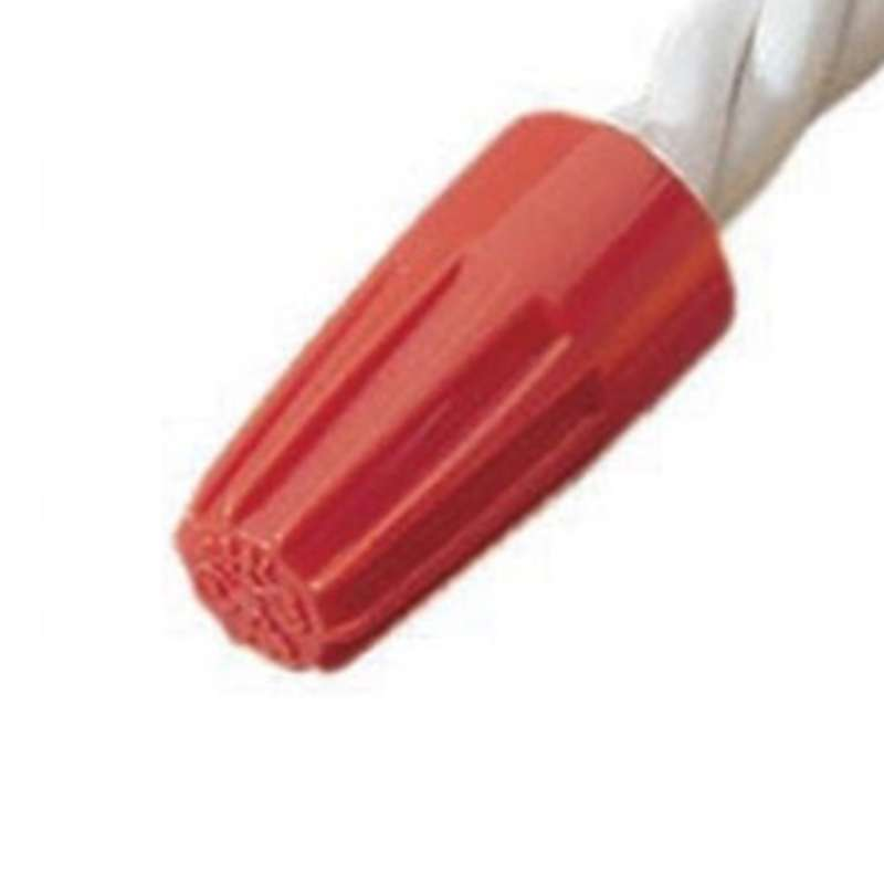 Wire-Nut Wire Connector, 600V, 22-18 AWG, Orange, 100 Per Box