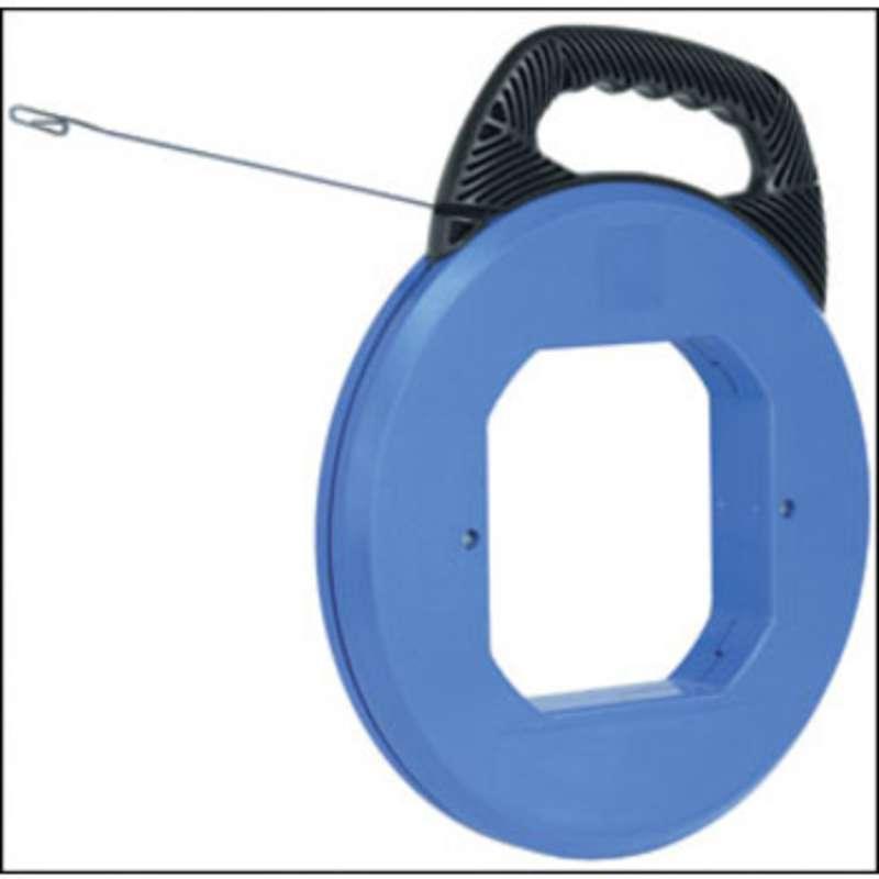 """Tuff-Grip Blued Steel Fish Tape 120' x 1/8"""" x .060"""" w/ Plastic Case"""