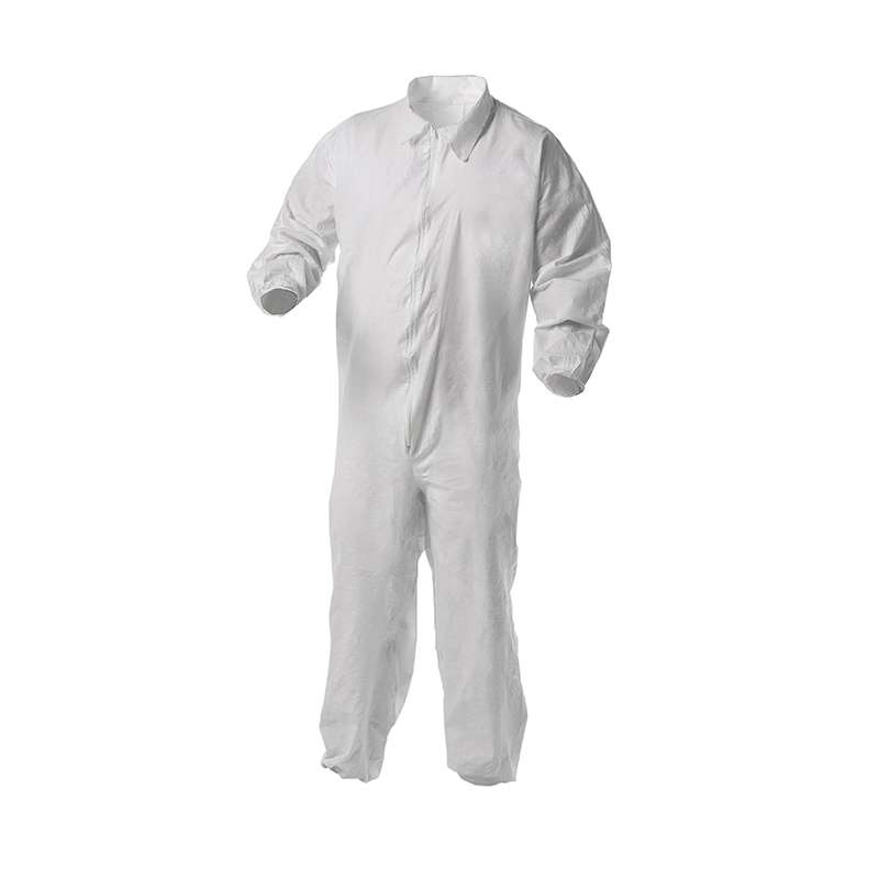 KleenGuard A35 Liquid & Particle Protection Coverall  White  Microporous film laminate  Zipper front, elastic wrists & ankles  2X-Large  25/Case