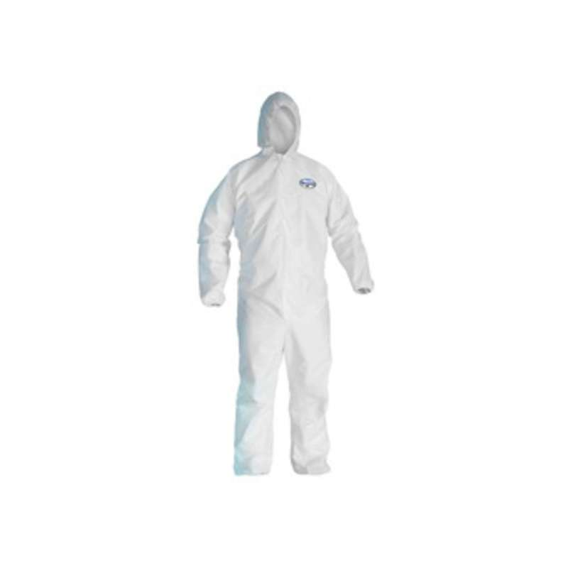 KleenGuard A45 Liquid & Particle Surface Prep and Paint Coveralls  White  Microporous film laminate  X-Large  25/case