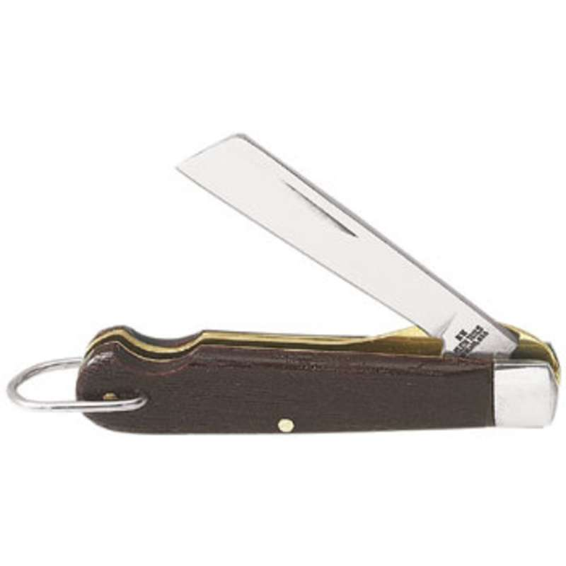 """Compact Pocket Knife with Folding Carbon Steel Coping-Type Blade, 2-1/4"""" Long Blade"""