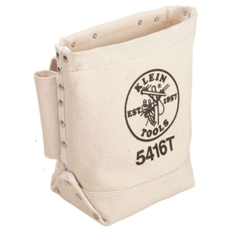 """Canvas Bolt Bag with Bull Pin Loops and Tunnel Belt Connection, 5 x 9 x 10"""""""