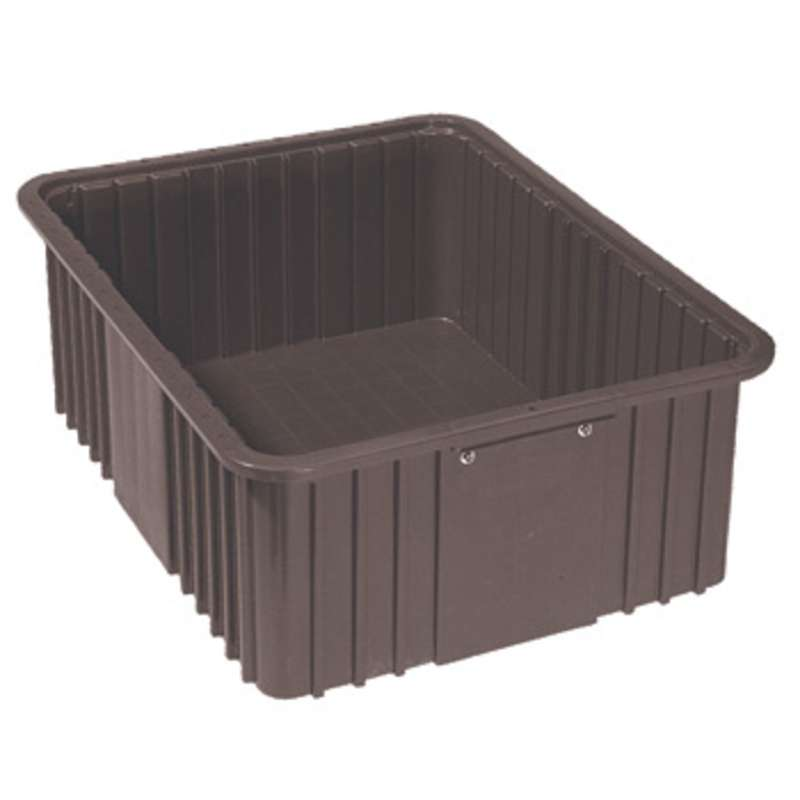 """Conductive Stackable Divider Tote Box, 14-15/16 x 9-5/16 x 4-15/16"""" ID (Dividers not Included)"""