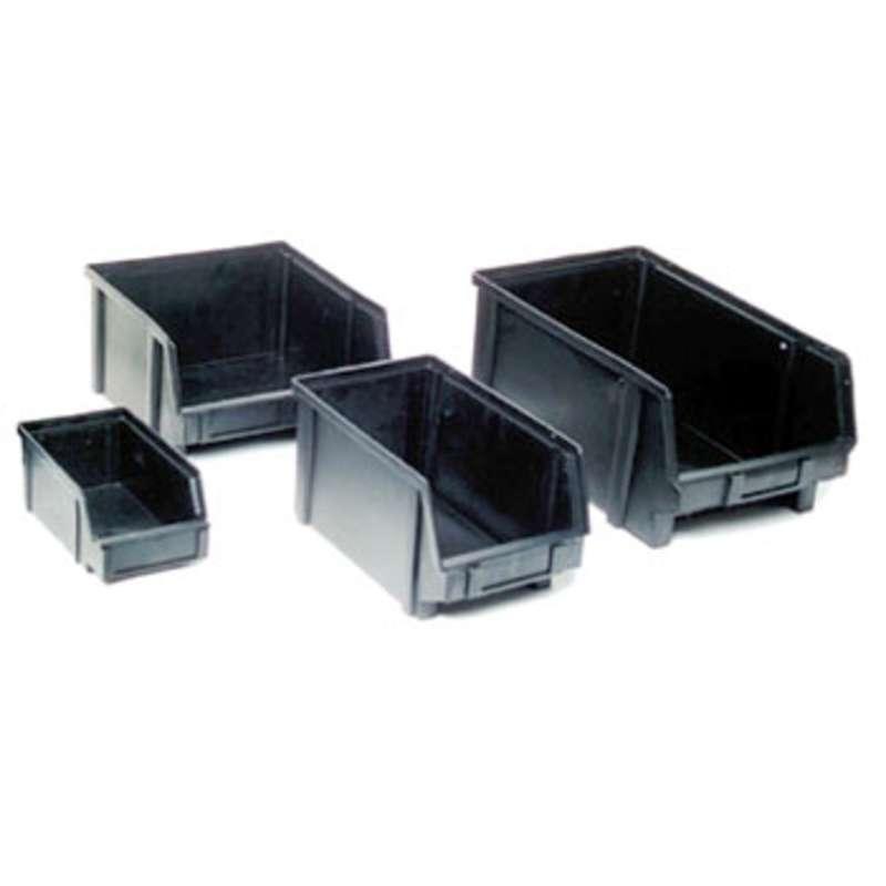 """Conductive Bin Box Black, 11-13/16 x 10-1/2 x 6""""ID"""