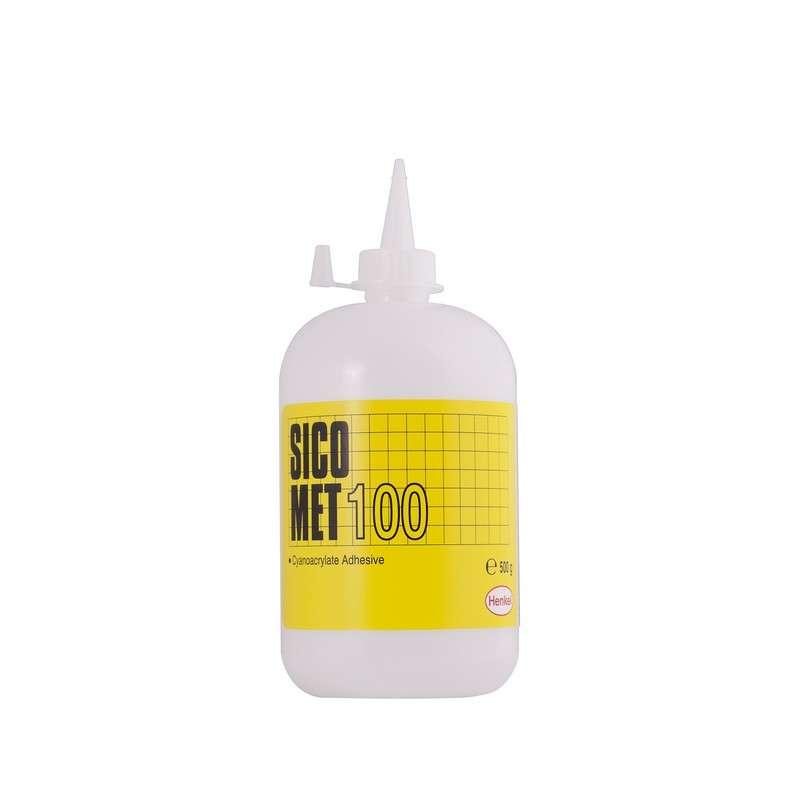 Sicomet® 100 Clear Ethyl Grade Low Viscosity Instant Adhesive, 500 g Bottle