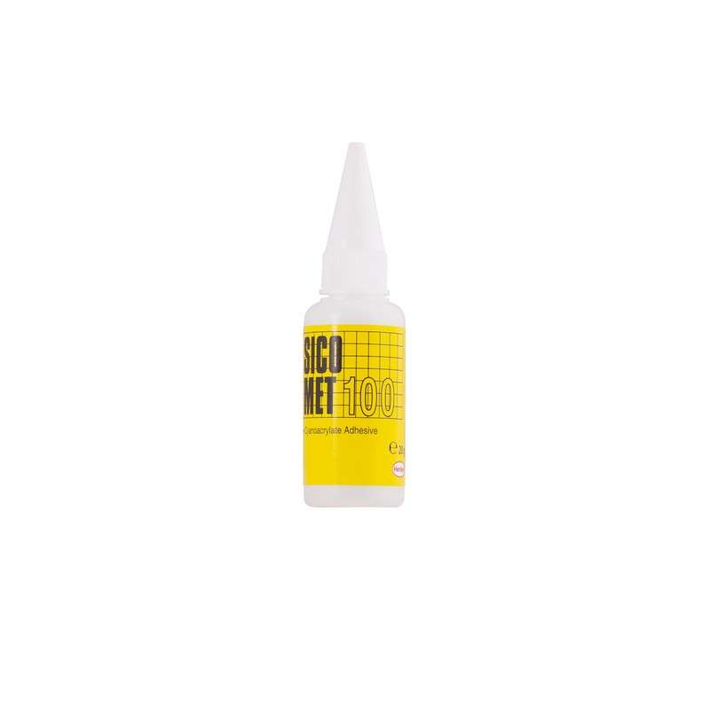 Sicomet® 100 Clear Ethyl Grade Medium Viscosity Instant Adhesive, 20 g Bottle