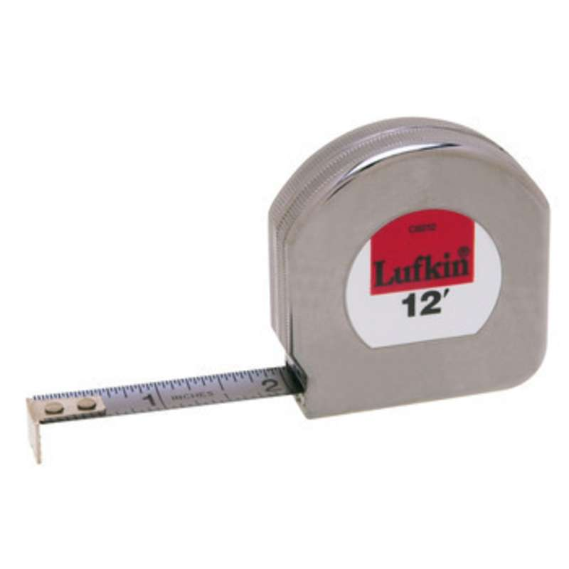 """Mezurall® Chrome Clad® Measuring Tape, Reads in Inches w/ 1/16 Inch Scale, 1/2"""" x 12'"""