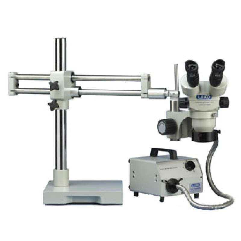 System 273 Binocular Stereo-Zoom Microscope with Dual Boom Stand and Ring Light