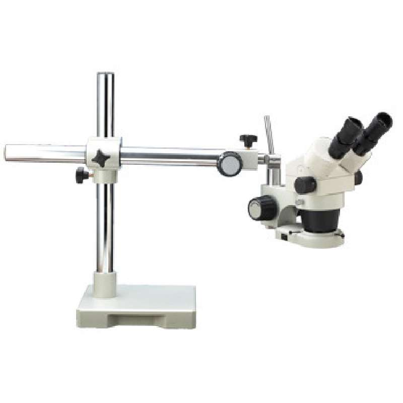 System 250 Binocular Stereo-Zoom Microscope with Single Boom Stand and Fluorescent Ring Light
